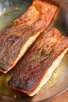 Crispy Skin Salmon in a pan