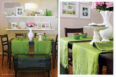 Floating shelves in dining room for displaying photos - diyarticlespread4forpost.jpg 500×336 pixels