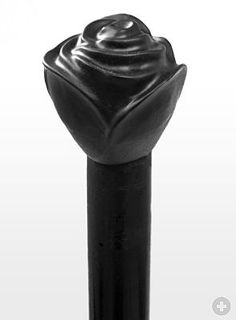Walking Stick Black Rose from maskworld.com Wooden Walking Sticks, Walking Sticks And Canes, Walking Canes, Roses And Violets, Purple Roses, Just Keep Walking, Cane Stick, Forest Friends, Fancy Party