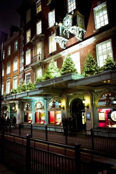 A general view of the Christmas decorations on Fortum and Masons department store on November 23, 2010 in London, England.