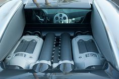 Bugatti Images by Jill Reger - Images of Bugattis - 2008 Bugatti Veyron Engine
