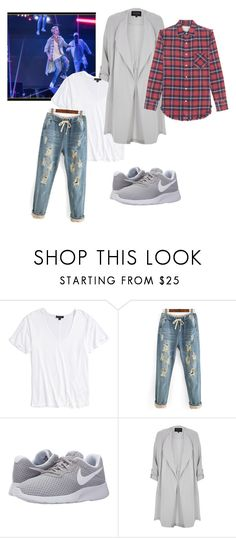 """""""Untitled #471"""" by sikarjazmin ❤ liked on Polyvore featuring Topshop, NIKE, River Island and R13"""