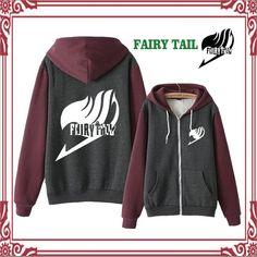 Anime Fairy Tail Hooded Thicken Jacket Sweatshirt Cosplay Hoodie