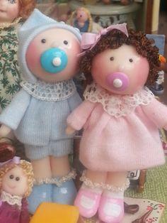 Tumima Dolls de Marisa Madejón. Tiny Dolls, Miniature Dolls, Old And New, Teddy Bear, Clay, Babies, Toys, Crafts, Dolls