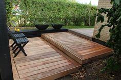 Forhøjet terrasse opbygget af billige terrassebrædder fra http ...