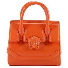 Handbag Handbag Women Versace ($960) ❤ liked on Polyvore featuring bags, handbags, orange, handbag purse, purse bag, orange hand bag, versace handbags and orange purse