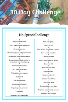 A look at the results of my first ever 30 Day Challenge and setting my next challenge. Last month it was Self-Care, next month it is a No-Spend challenge.