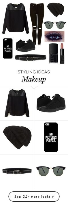 """""""Not to Black"""" by sdocherty16 on Polyvore featuring Converse, Phase 3, Casetify, Ray-Ban, NARS Cosmetics and Orciani"""