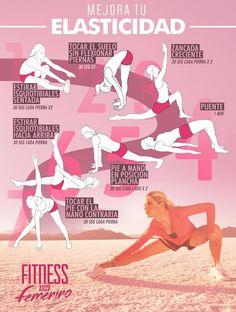 Mejora tu elasticidad en 7 movimientos. #infografia #elasticidad