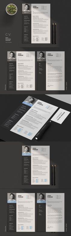 Clean Resume/CV #stationeries #CvDesign #modernresume #ResumeTips #CurriculumVitae #icons #minimalist #usletter #resumeword #ResumeWriting #resumetemplate #stationery #resumeminimal #CvDesign #indesign #a4 #design #resumeportfolio #stationery Resume Cv, Resume Design, Stationery Design, Cv Template, Print Templates, Resume Templates, Typography, Lettering, Cover Letter For Resume