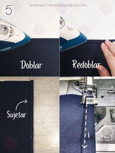 Costura fácil 3 formas de coser un dobladillo. Tutorial de costura. Costura fácil paso a paso. Técnicas de costura. Aprender a coser. Costura para principiantes. Design Blog, Turntable, Deco, Singer, Molde, Vestidos, Sewing Trim, How To Sew, Sewing Techniques