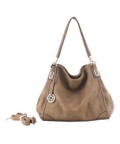 79329b89304 Khaki Hertha Hobo by Amore  zulilyfinds Beautiful Bags