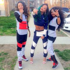 swag pants jacket hoodie black sweats shoes dope girls friends grey sweatsuit blue red O. Bff Goals, Best Friend Goals, Squad Goals, Dope Fashion, Fashion Killa, Urban Fashion, Swag Style, My Style, Style Urban
