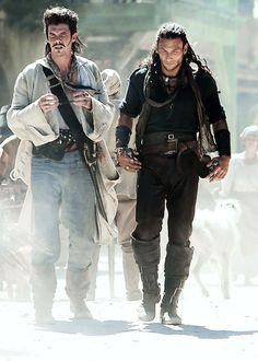Black Sails - Jack Rackham (Toby Smitz) and Charles Vane (Zack Mcgowan)