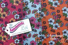 Kamehameha Lei Jersey pink + türkis von PinkPeppa auf DaWanda.com