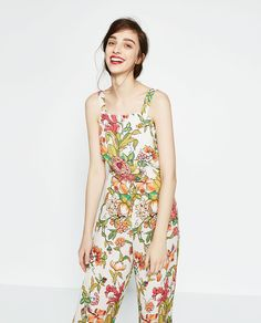 Image 2 of PRINTED JUMPSUIT from Zara