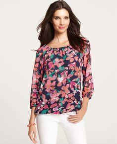 Ann Taylor - AT Blouses Tops - Wild Blooms Top