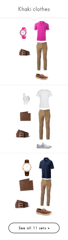 """Khaki clothes"" by richieri on Polyvore featuring SUN68, Urban Pipeline, Sperry, Crayo, Paul Smith, men's fashion, menswear, NIKE, Nixon and Levi's"