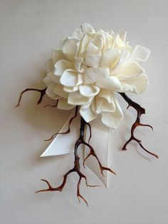 Corsage, Boutonniere, Brooch-Madeira Collection. $15.00, via Etsy.