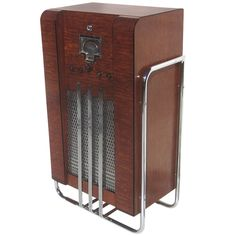 John Vassos Designed RCA Model 9K10 Art Deco Radio   From a unique collection of antique and modern decorative objects at https://www.1stdibs.com/furniture/more-furniture-collectibles/decorative-objects/