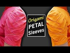 This video shows - How to make Origami Petal Sleeves Designs for Kurti / Origami Petal Sleeves Design for Kameez / Sleeves Design cutting and stitching. Kurti Sleeves Design, Kurta Neck Design, Sleeves Designs For Dresses, Dress Neck Designs, Sleeve Designs, Simple Blouse Designs, Stylish Blouse Design, Latest Blouse Designs, Blouse Designs Catalogue