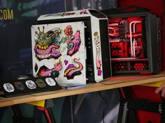 Cooler master is taking customization to the next level at CES 2017 with these graphic designs for our case and headphone line Custom Pc, Cooler Master, Pc Cases, Arcade, Computers, Smartphone, Nerd, Gaming, Design