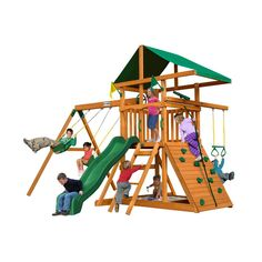 Gorilla Playsets Outing III Cedar Playset, Browns/Tans