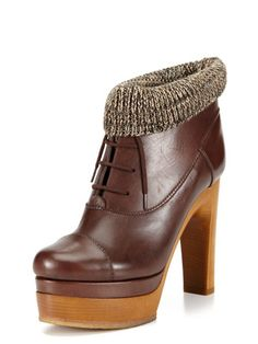 perfect for chilly weather- Chloe Knit Cuff Bootie