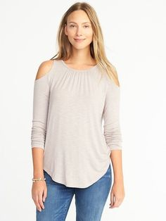 Relaxed Cold-Shoulder Top for Women