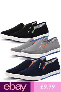 f930a57eac66 #eBayTrainers Clothes, Shoes & Accessories Plimsoll Shoe, Mens Canvas  Shoes, Plimsolls