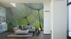 Livingwalls Fototapete Dandelion 031060; simuliert auf der Wand