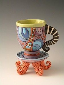 Mad Hatter Tea Cup with Saucer