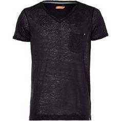 Kuyichi bio Herren T-Shirt Ethaniel solid tee phantom schwarz