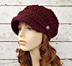 https://www.etsy.com/es/listing/206748427/crochet-chunky-womens-newsboy-hat-in   Supernatural Style