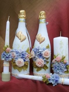 Glass Bottles crafts | DECORATED GLASS JARS AND BOTTLES