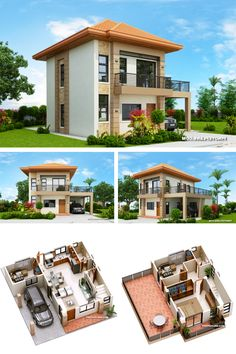Two storey house with 3 bedrooms with usable floor area of 134 square meters