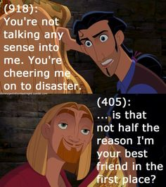 [Not] Disney Gents from Last Night - Road to El Dorado - why we are friends