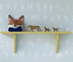 Shelf and wallpaper (Hibou Home)