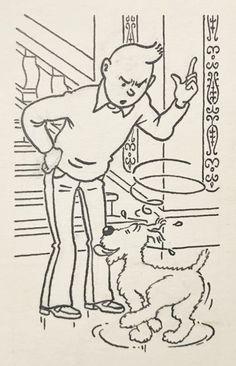 Studios Hergé - Dessin original à l'encre de chine - Tintin et Milou (1976) - W.B.
