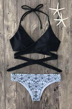 $26.99 Sexy Fashion Floral Print Bikini Set