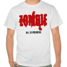 zombie in training t shirt