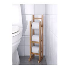 IKEA - RÅGRUND, Toilet roll stand, , You can keep extra rolls of toilet paper close at hand.Bamboo is a hardwearing natural material.