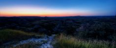 2. The painted canyons of Theodore Roosevelt National Park by night.