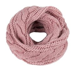 Kaisifei Women Warmer Unisex Soft Knit Cowl Infinity Scarf Shawl Wrap (Pink) -- Find out more details @ Head Wrap Scarf, Loop Scarf, Echo Scarves, Lps Accessories, Navy Blue Scarf, Christmas Lingerie, Knit Cowl, Chiffon Scarf, Neck Warmer