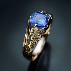 circa 1910 An antique gold unisex ring of an openwork floral design is set with a ct cushion cut natural sapphire of a cornflower blue color. The sapphire measures x x mm. Ring size mm) sizable Available Antique Rings, Antique Art, Vintage Rings, Antique Jewelry, Vintage Jewelry, Russian Ring, Russian Jewelry, Art Nouveau, Sapphire Pendant
