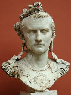 Cuirass bust of Caligula. Marble. 37—41 A.D. Height 51 cm. Inv. No. 1453. Copenhagen, New Carlsberg Glyptotek.