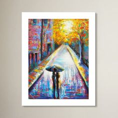 """Zipcode Design Paris Back Street Magic' Painting Print on Rolled Canvas Size: 24"""" H x 18"""" W"""