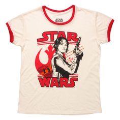 Star Wars Rogue One Jyn Erso Silhouette Death Star Rebel Starfighter T-Shirt