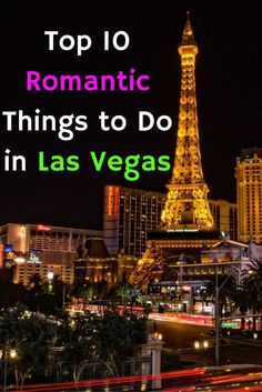 In Las Vegas extravagance and excess are positively encouraged. A great destination for romance, you can spoil you & your loved one there without any guilt.