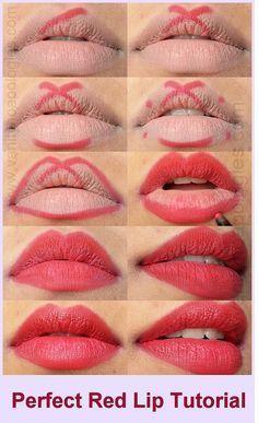 Lippenstift auftragen ohne übermalen. #schminken #lippenstift #lippen #lipgloss